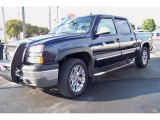2005 Dark Blue Metallic Chevrolet Silverado 1500 Z71 Crew Cab 4x4 #40353132