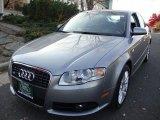 2008 Quartz Grey Metallic Audi A4 2.0T quattro S-Line Sedan #40353564