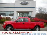 2010 Vermillion Red Ford F150 STX SuperCab 4x4 #40353057