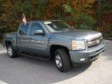 2009 Blue Granite Metallic Chevrolet Silverado 1500 LTZ Crew Cab #40353763