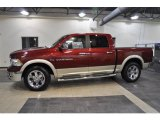 2011 Deep Cherry Red Crystal Pearl Dodge Ram 1500 Laramie Crew Cab #40410283