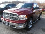 2011 Deep Cherry Red Crystal Pearl Dodge Ram 1500 Big Horn Quad Cab 4x4 #40479577