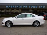 2010 White Platinum Tri-coat Metallic Ford Fusion SEL V6 #40479366