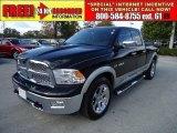 2009 Brilliant Black Crystal Pearl Dodge Ram 1500 Laramie Quad Cab #40479673