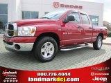 2007 Inferno Red Crystal Pearl Dodge Ram 1500 SLT Quad Cab #40479157