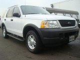Oxford White Ford Explorer in 2003