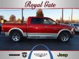 2009 Inferno Red Crystal Pearl Dodge Ram 1500 Laramie Crew Cab 4x4 #40478927