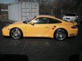 2007 Speed Yellow Porsche 911 Turbo Coupe #4042931