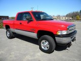 2001 Flame Red Dodge Ram 2500 ST Quad Cab 4x4 #40571515