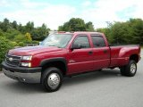 2005 Sport Red Metallic Chevrolet Silverado 3500 LT Crew Cab 4x4 Dually #40571525