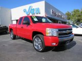2008 Victory Red Chevrolet Silverado 1500 LT Extended Cab #40571331