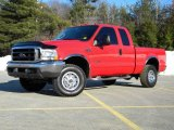 2003 Red Clearcoat Ford F250 Super Duty XLT SuperCab 4x4 #40571541
