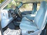 1999 Ford F350 Super Duty XLT Crew Cab 4x4 Dually Blue Interior