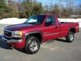 2005 Sport Red Metallic GMC Sierra 2500HD SLE Regular Cab 4x4 #40571456