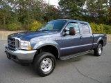 2004 Medium Wedgewood Blue Metallic Ford F250 Super Duty Lariat Crew Cab 4x4 #40571564
