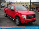 2010 Vermillion Red Ford F150 STX SuperCab 4x4 #40570919