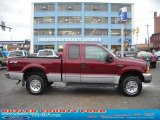 2000 Dark Toreador Red Metallic Ford F250 Super Duty XLT Extended Cab 4x4 #40570924