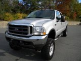 2004 Silver Metallic Ford F250 Super Duty Lariat Crew Cab 4x4 #40571576