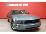 2005 Windveil Blue Metallic Ford Mustang V6 Deluxe Coupe #40571229