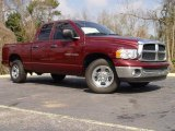 2003 Dark Garnet Red Pearl Dodge Ram 1500 SLT Quad Cab #4053104