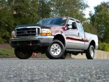 2000 Dark Toreador Red Metallic Ford F250 Super Duty XLT Extended Cab 4x4 #40571601