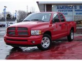 2004 Flame Red Dodge Ram 1500 SLT Quad Cab #4050052