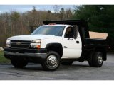 2005 Summit White Chevrolet Silverado 3500 Regular Cab 4x4 Chassis Dump Truck #40571500