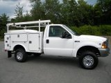 1999 Oxford White Ford F350 Super Duty XL Regular Cab 4x4 Chassis #40571615