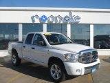 2008 Bright White Dodge Ram 1500 Laramie Quad Cab 4x4 #40667974