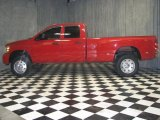 2007 Flame Red Dodge Ram 3500 Laramie Quad Cab 4x4 Dually #40668029