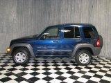 2002 Patriot Blue Pearlcoat Jeep Liberty Sport 4x4 #40700135