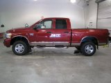 2007 Inferno Red Crystal Pearl Dodge Ram 3500 Laramie Quad Cab 4x4 #40711152