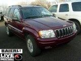 2002 Dark Garnet Red Pearlcoat Jeep Grand Cherokee Limited 4x4 #40710614
