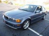 2001 Steel Blue Metallic BMW 3 Series 325i Coupe #40710847