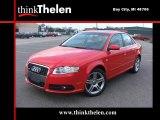 2008 Brilliant Red Audi A4 2.0T quattro S-Line Sedan #40711324