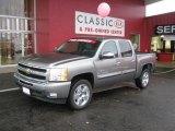 2009 Graystone Metallic Chevrolet Silverado 1500 LT Crew Cab #40711062