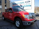 2010 Vermillion Red Ford F150 XLT SuperCrew 4x4 #40711426