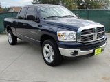 2007 Patriot Blue Pearl Dodge Ram 1500 Lone Star Quad Cab 4x4 #40756154