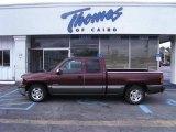 2000 Dark Carmine Red Metallic Chevrolet Silverado 1500 LT Extended Cab #40756443