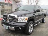 2007 Brilliant Black Crystal Pearl Dodge Ram 1500 Laramie Quad Cab 4x4 #40756726