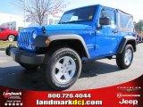 2011 Cosmos Blue Jeep Wrangler Sport S 4x4 #40820697