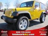 2011 Detonator Yellow Jeep Wrangler Sport S 4x4 #40820699