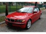 2002 Electric Red BMW 3 Series 325i Sedan #40820762