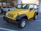 2011 Detonator Yellow Jeep Wrangler Sport 4x4 #40879842