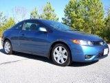 2007 Atomic Blue Metallic Honda Civic LX Coupe #40879851