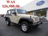 2011 Sahara Tan Jeep Wrangler Sport 4x4 #40879258