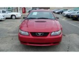 2002 Torch Red Ford Mustang V6 Coupe #40879295