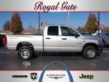 2008 Bright Silver Metallic Dodge Ram 1500 SXT Quad Cab 4x4 #40879057