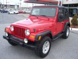 2006 Flame Red Jeep Wrangler Rubicon 4x4 #40879635