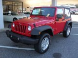 2011 Flame Red Jeep Wrangler Sport S 4x4 #40879836